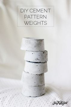 How-To: DIY Cement Sewing Pattern Weights #sewing #patternweights #cement
