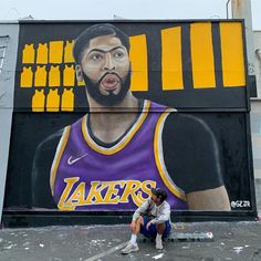 New Anthony Davis mural in Los Angeles -brookZ Football And Basketball, Basketball Players, College Basketball, Nba West, Fantasy Football Funny, Nba Trades, Lebron James Lakers, Funny Watch, Nba Wallpapers