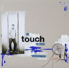 To touch my mind, it takes a courageous thougt. Scrapbook Pages, Scrapbooking, Touch Me, Arts And Crafts, Schmidt, Layouts, Collage, Inspiration, Home Decor