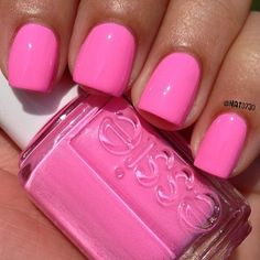 """Essie - """"Boom Boom Room"""", Summer 2013 Neon Collection cute nails for spring or summer🎀 Get Nails, Love Nails, How To Do Nails, Pretty Nails, Hair And Nails, Pretty Toes, Manicure And Pedicure, Pedicures, Hot Pink Pedicure"""