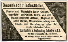 Original-Werbung/Anzeige 1908 - GESENKSCHMIEDESTÜCKE /SCHLITTSCHUH - UND BAUBESCHLAG-INDUSTRIE RADEVORMWALD -ca.95x55 mm