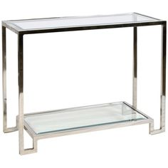 Worlds Away Console Table with Beveled Glass Shelves LYLE G