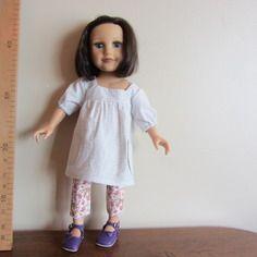 Robe blouse blanche à encolure carrée pour poupée journey girls 45 cm