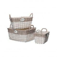 Set 3 cosuri depozitare LIDA Laundry Basket, Wicker Baskets, Home Decor, Decoration Home, Room Decor, Home Interior Design, Laundry Hamper, Home Decoration, Woven Baskets