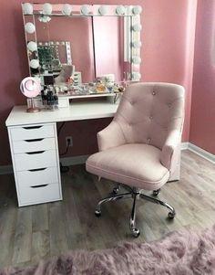 53 + makeup vanities & cases for stylish bedroom - www. - - 53 + makeup vanities & cases for stylish bedroom - www. Makeup Vanity Case, Makeup Vanities, Rangement Makeup, Small Bedroom Designs, Glam Room, Stylish Bedroom, Beauty Room, New Room, Bedroom Decor