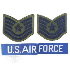 US AIR FORCE PATCH SET ミリタリーワッペンセット 米軍放出品 税抜 350円