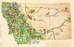 Montana Brewery Map