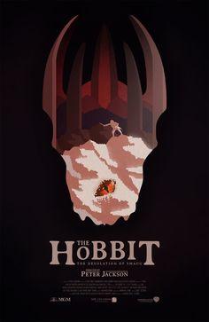 Affiche alternative du film The Hobbit: The Desolation of Smaug (Peter Jackson) de Conor Smyth Hobbit Art, O Hobbit, Jrr Tolkien, Tauriel, Movie Co, Film Poster Design, The Hobbit Movies, Elfa, Desolation Of Smaug