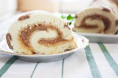 roulade cake with apples