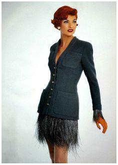 """robertocustodioart: """"Linda Evangelista in Chanel Haute Couture by Patrick Demarchelier 1991 """""""