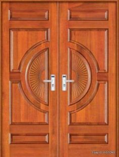 Are you looking for the best wooden doors for your home that suits perfectly? Then come and see our new content Wooden Main Door Design Ideas. Wooden Double Doors, Wooden Front Door Design, Modern Wooden Doors, Double Door Design, Double Front Doors, Wooden Front Doors, Wood Doors, Entry Doors, Double Frame