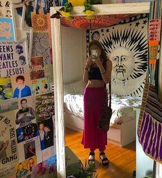 Room Ideas Bedroom, Bedroom Inspo, Hippie Bedroom Decor, Hippie Bedrooms, Boho Decor, Dream Rooms, Dream Bedroom, My New Room, My Room