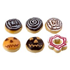 Six Miniature Halloween Donuts and Pastries