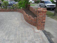brick planter gardens  Ooh I LIKE THAT BORDER.