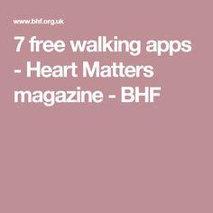 7 free walking apps - Heart Matters magazine - BHF