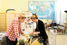 Kirk Lombard and his wife, Camilla, collaborate in their kitchen. #nytimes
