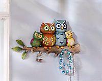 Schmuckhalter & Wanddeko in einem Clock, Home Decor, Light Scarves, Owls, Kawaii, Hang In There, Stones, Watch, Decoration Home