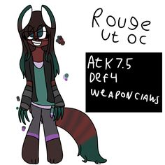 So I redid Rouge my old Ut OC I would love some constructive criticism on her. Here's some things about her * draws and sells art to the temmies * has retractable claws and likes to paint her claws  * remembers heats flamesmans name ( and hangs out with him ) * lives in snowdin and hangs out at Grillbys  * goes to a snowdin middle school or something   She still looks like trash tho :/