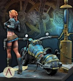 SARAH KILMISTER - STEAM WARS- SCALE 75 by mmasclans · Putty&Paint