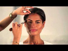 Learn how to contour and highlight using a mineral makeup contouring kit. Makeup Artist, Janeena Billera, demonstrates how to sculpt, define, illuminate and . Makeup Contouring Kit, Contouring And Highlighting, Makeup Routine, Makeup Tips, Makeup Videos, Beauty Skin, Beauty Makeup, Hair Makeup, Face Shape Contour