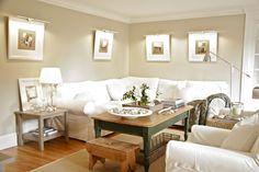 Ektorp Sofa...Casual coastal decor, neutrals