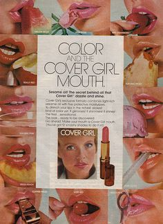 Cover Girl Lipstick Advertisment 1976   (I remember this ad!!!!!)