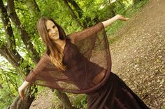 This poncho is made out of a very nice Net material and comes with a good sized hood. Pixie Outfit, Mori Girl, Grunge Outfits, Grunge Fashion, Goa, Festival Outfits, Festival Fashion, Jedi Outfit, Yoga Mode