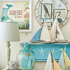 56 Delicate And Beautiful Beach-Inspired Mantels