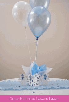 Mazel Tov Decorations.  Balloon Centerpieces for Bris, Bar Mitzvah or Jewish Celebration - comes with Personalized Star of David Confetti.