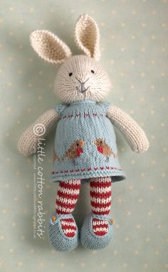 Mesmerizing Crochet an Amigurumi Rabbit Ideas. Lovely Crochet an Amigurumi Rabbit Ideas. Knitted Bunnies, Knitted Animals, Knitted Dolls, Knitting For Kids, Knitting Projects, Baby Knitting, Crochet Projects, Knit Or Crochet, Crochet Toys