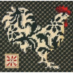 "Dimensions Black & Rooster Mini Needlepoint Kit-5""X5"" Stitched In Thread"