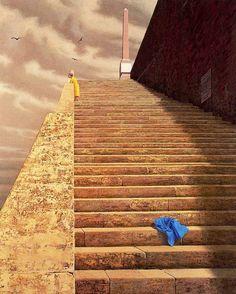 jeffrey smart - Las escaleras - 81 x Australian Painters, Australian Artists, Jeffrey Smart, Historia Universal, Popular Artists, Smart Art, My Favorite Image, Urban Landscape, Surreal Art