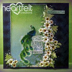 Heartfelt Creations | Peacock And White Daisies Layout | Archana Joshi | Paisley Peacock