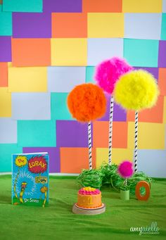 chicago suburbs first birthday dr suess lorax themed cake smash - creative first birthday photo shoot ideas - Amy Aiello Photography - http://blog.amyphotochicago.com