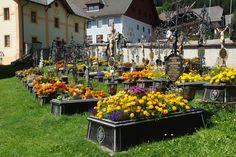 Austrian cemetery where each grave is a garden.