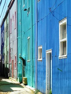Houses of Valparaiso Chile Central America, Color Mixing, Places To Travel, To Go, Architecture, World, Gates, Buildings, Photograph