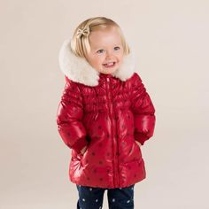 Cheap dave bella, Buy Quality girls outerwear jackets directly from China girls padded jacket Suppliers: dave bella baby girls cute baby red dot hooded padded coat outerwear down jacket Padded Jacket, Leather Jacket, Kids Winter Jackets, White Ducks, Duck Down, Down Parka, Red Dots, Cute Babies, Kids Fashion