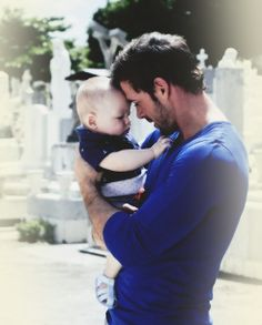 Men holding a baby....I love it!  ❤