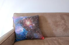 Galaxy Nebula Print Accent Pillow Cover Throw by pillarsofcreation