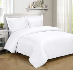 Bamboo Duvet Cover ($89.99) and Sheet Set ($79.99) in White
