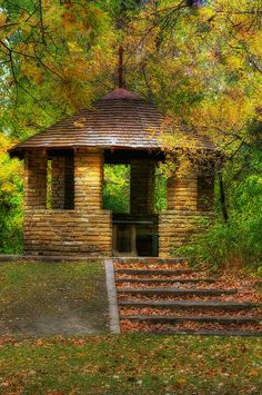 Gazebo in Ft Lincoln State Park, near Mandan, North Dakota
