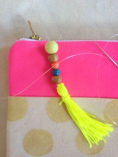 FunStitch Studio Summer Camp: Simple Stamped Pencil Case Tutorial | Sew Mama Sew |