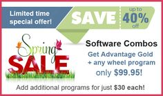 Save up to 40% off lottery software combo packages! Improve your odds of winning!