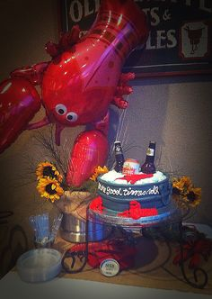 Crawfish Boil Cake Table