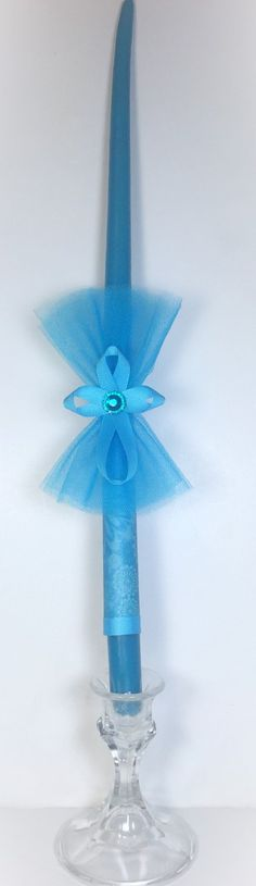 Teal Cross - Greek Easter Candle (Lambatha) by EllinikiStoli on Etsy (null) Teal Candles, Orthodox Easter, Diy And Crafts, Arts And Crafts, Greek Easter, Baptism Decorations, Teal Ribbon, Easter Crafts, Easter Ideas