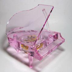 Lucite Grand Piano Music Box