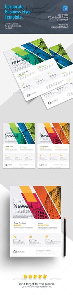 Corporate Business Flyer Template PSD #design