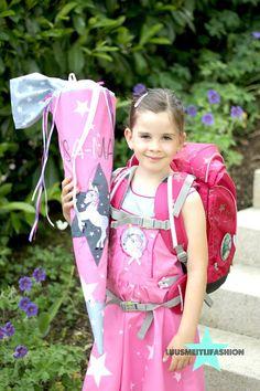 Luusmeitlifashion : Einschulungskleid und Schultüte nähen Einschulungskleid und Schultüte Kletties für den Ergobag selber machen DIY http://www.luusmeitlifashion.de/search?q=ergobag