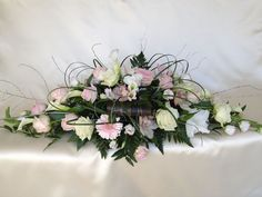 Double ended spray wonder xxx Chanan's Floral Events Home Flowers, Fresh Flowers, Beautiful Flowers, Church Flower Arrangements, Funeral Arrangements, Wedding Centerpieces, Wedding Bouquets, Funeral Tributes, Memorial Flowers