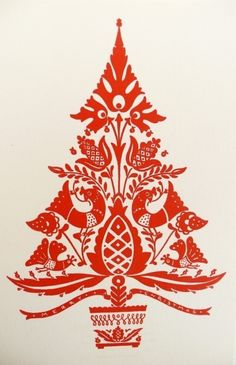 Scandinavian folk-art Christmas tree is my festive inspiration!